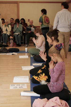 Offering prayers and practicing mindfulness
