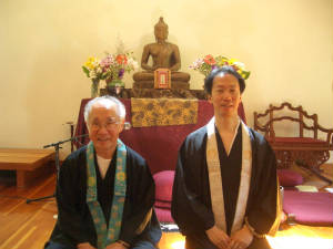 Shin Retreat 2006 Dr. Taitetsu and Mark Unno
