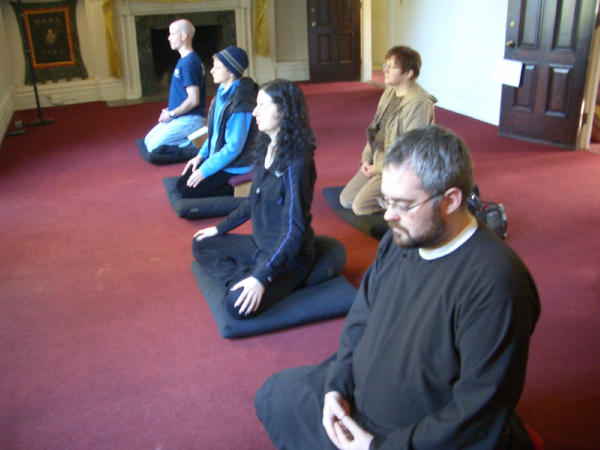 Meditating for peace